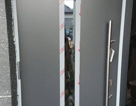 Drzwi zewnętrzne Hormann wzór 750 kolor. antracytowy