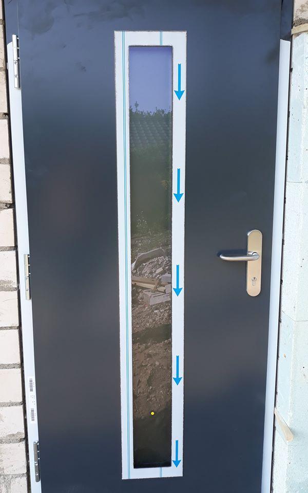 drzwi Thermo 65 wzór 700 z szybą mleczną